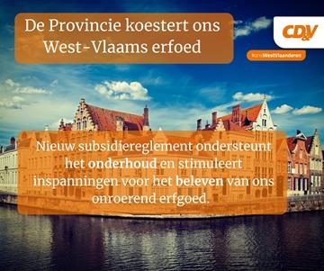 We koesteren ons West-Vlaams onroerend erfgoed