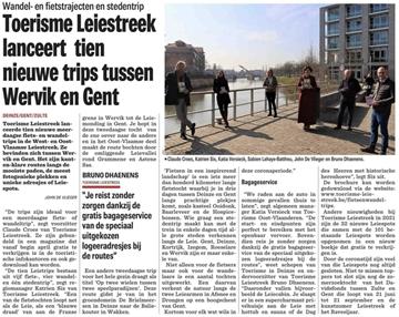 Toerisme Leiestreek lanceert nieuwe wandel- en fietsroutes